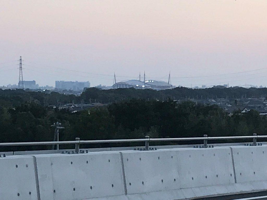 豊田勘八インター付近から見た豊田スタジアム